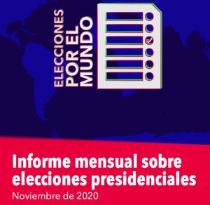 Elecciones presidenciales en noviembre de 2020