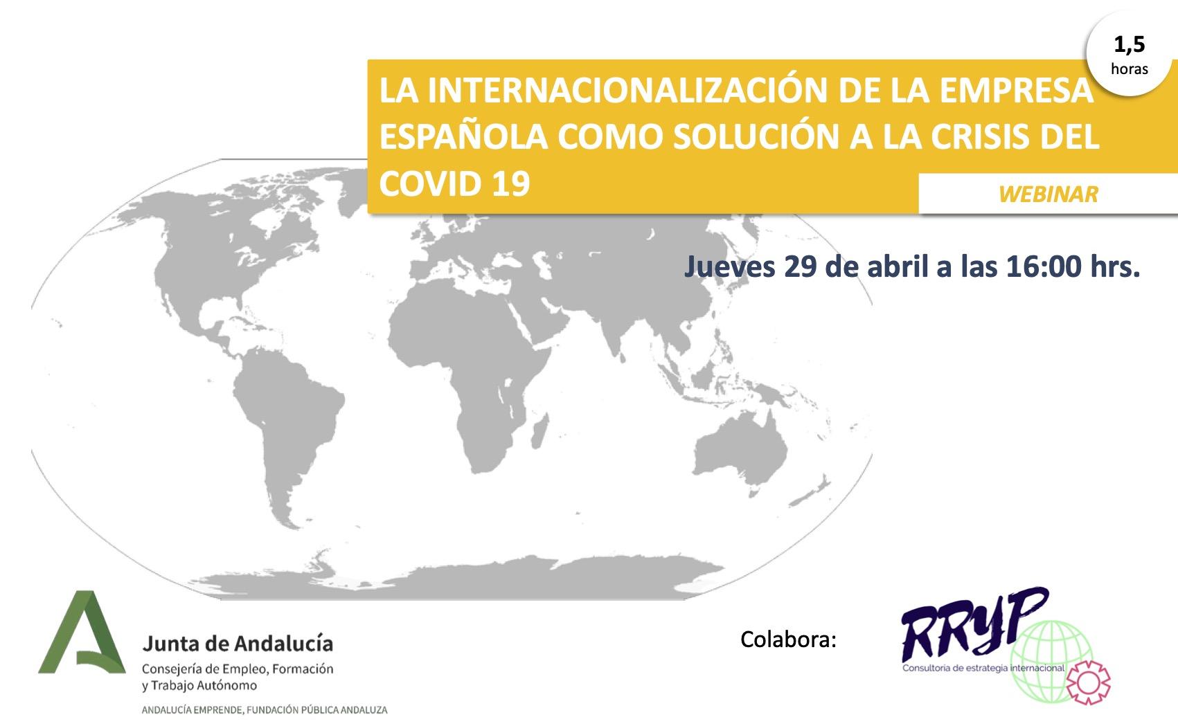 La internacionalización de la empresa española como solución a la crisis del COVID19